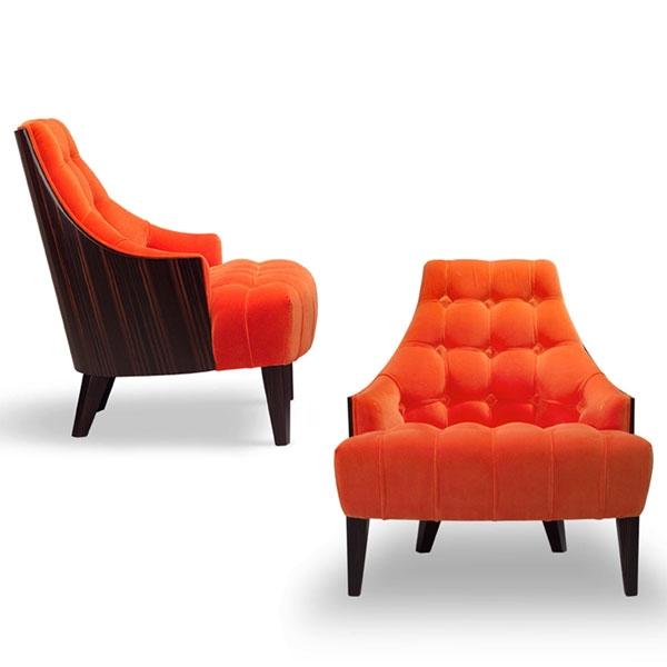 Blue Welvet WD armchair